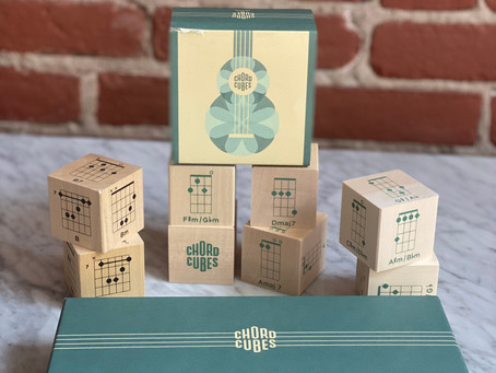 Video Musical Review- Ukulele Lessons with Chord Cubes