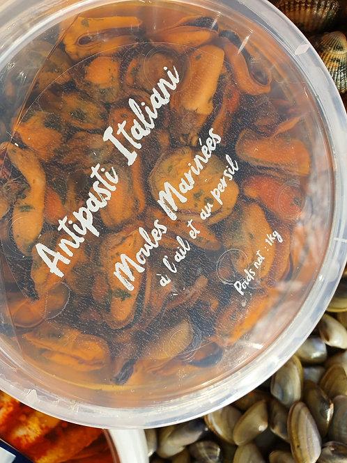 Moules marinées ail et persil