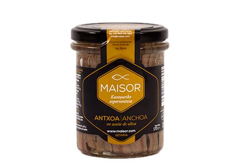 Filets d'anchois à l'huile d'olive, 170 gr