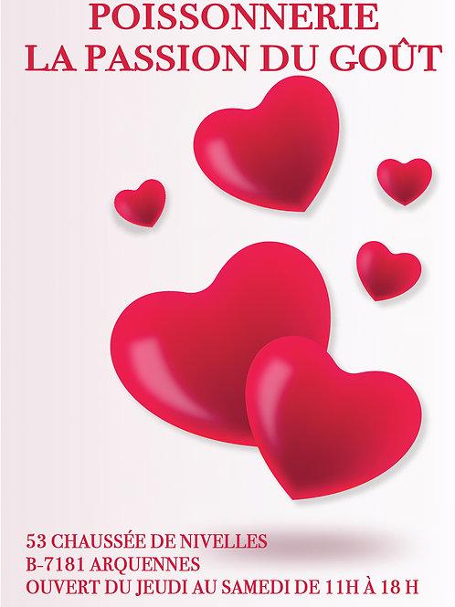 saint valentin poissonnerie la passion du goût