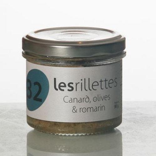 Rillette canard olives romarin 90 gr