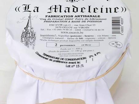 La Madeleine à retrouver dans la rubrique produits Belges