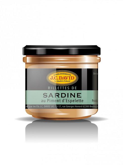 RILLETTES DE SARDINES 90 G