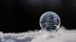Artistique bulles gelées