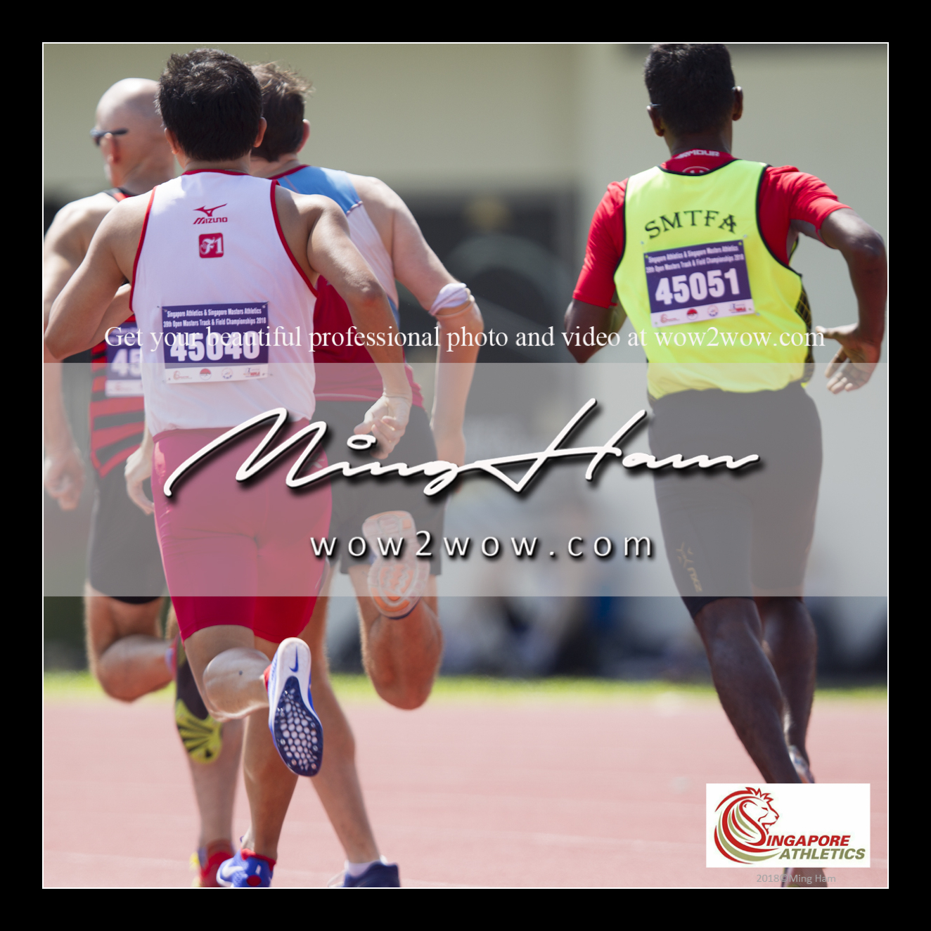 2018_Singapore Masters_0717 [Men M45 800m running back view 45051 SMTFA and 45040 F1 Koh Leong]