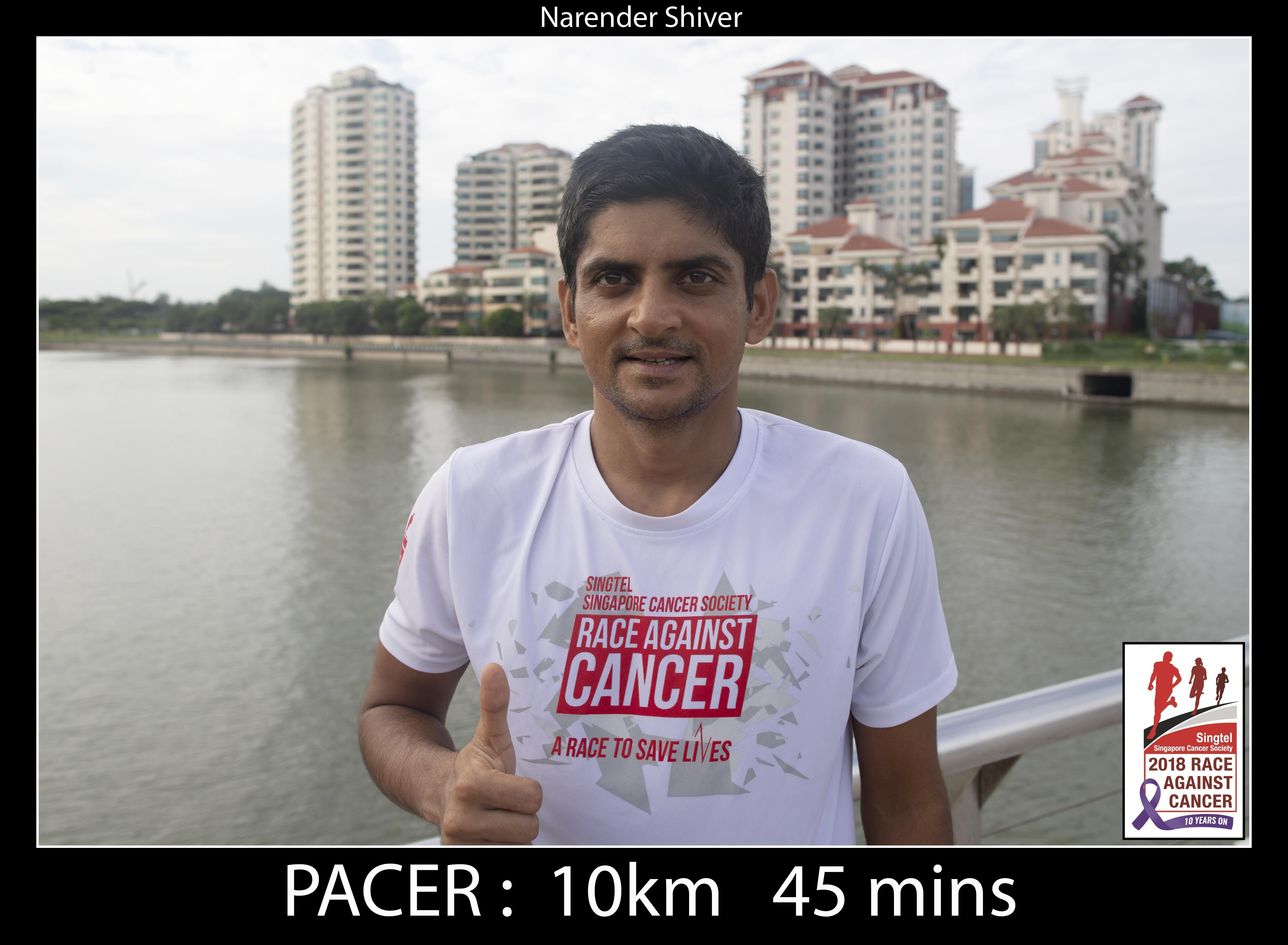 Narender Shiver 10km 45mins