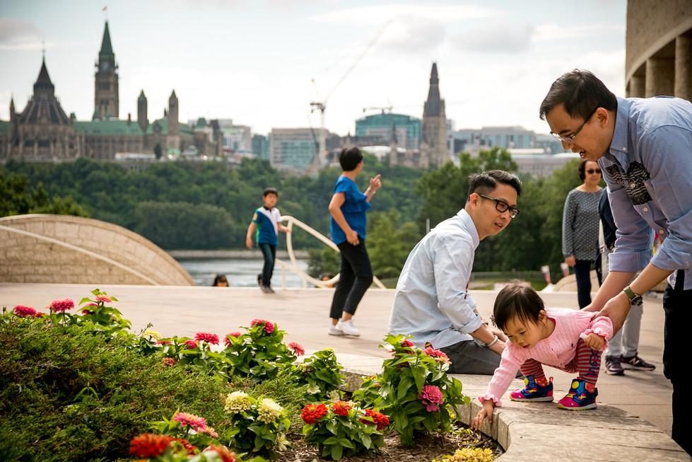 Ottawa Tourists at Museum of history