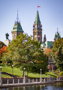 Ottawa Peace Tower in the Fall