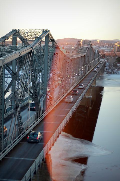 Alexandria Bridge in Ottawa, Ontario in Winter