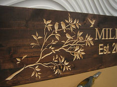 Carved Wood Sign