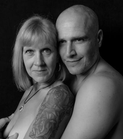 zelfportret met mijn vrouw