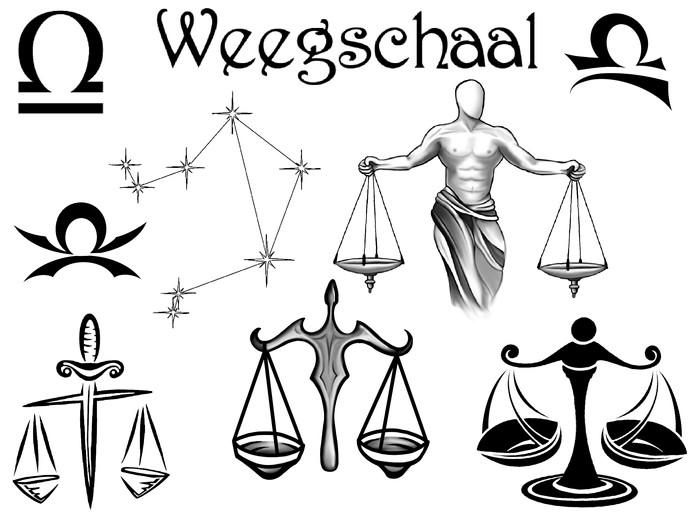 Horoscoop tattoo weegschaal