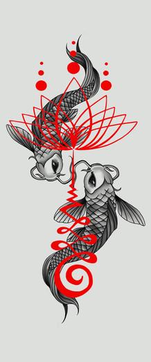 vissen tattoo design