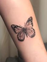 tattoo design vlinder