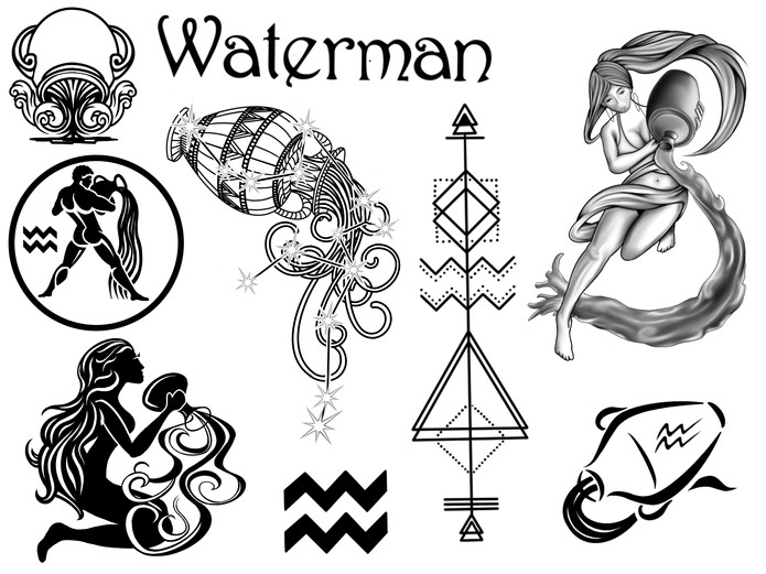Horoscoop tattoo waterman