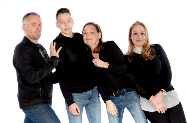 Fotoshoot studio familie