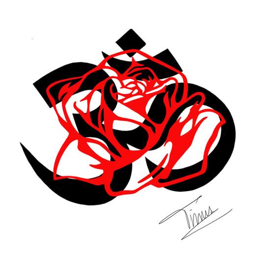 roos met teken boedisme