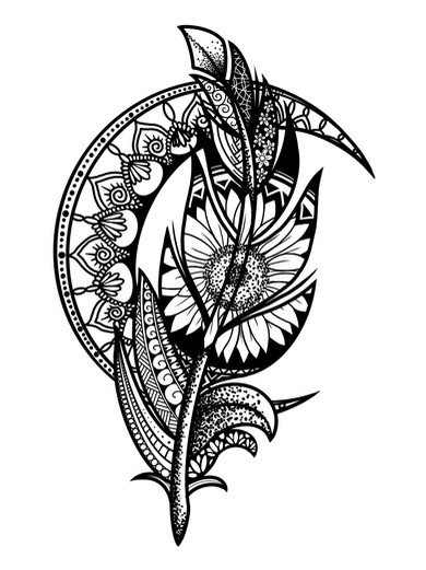 ornamental mandala veer tattoo