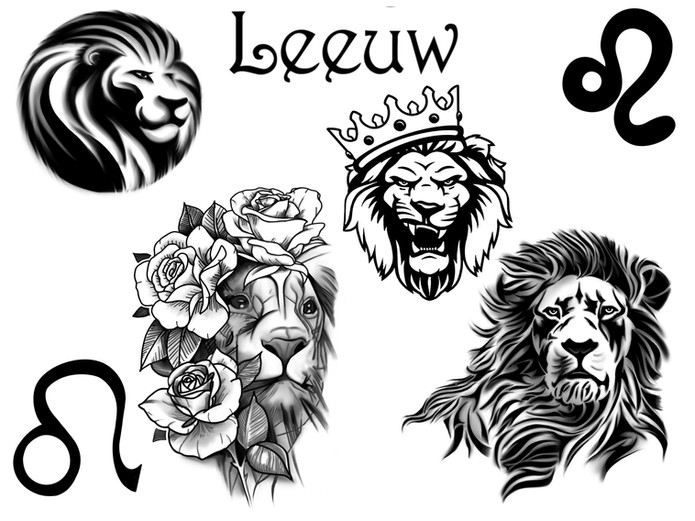 Horoscoop tattoo leeuw