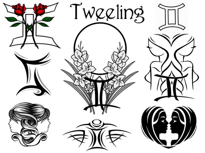 Horoscoop tattoo tweeling