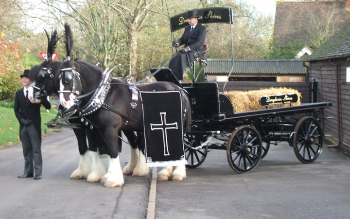 Hearse Dray Black