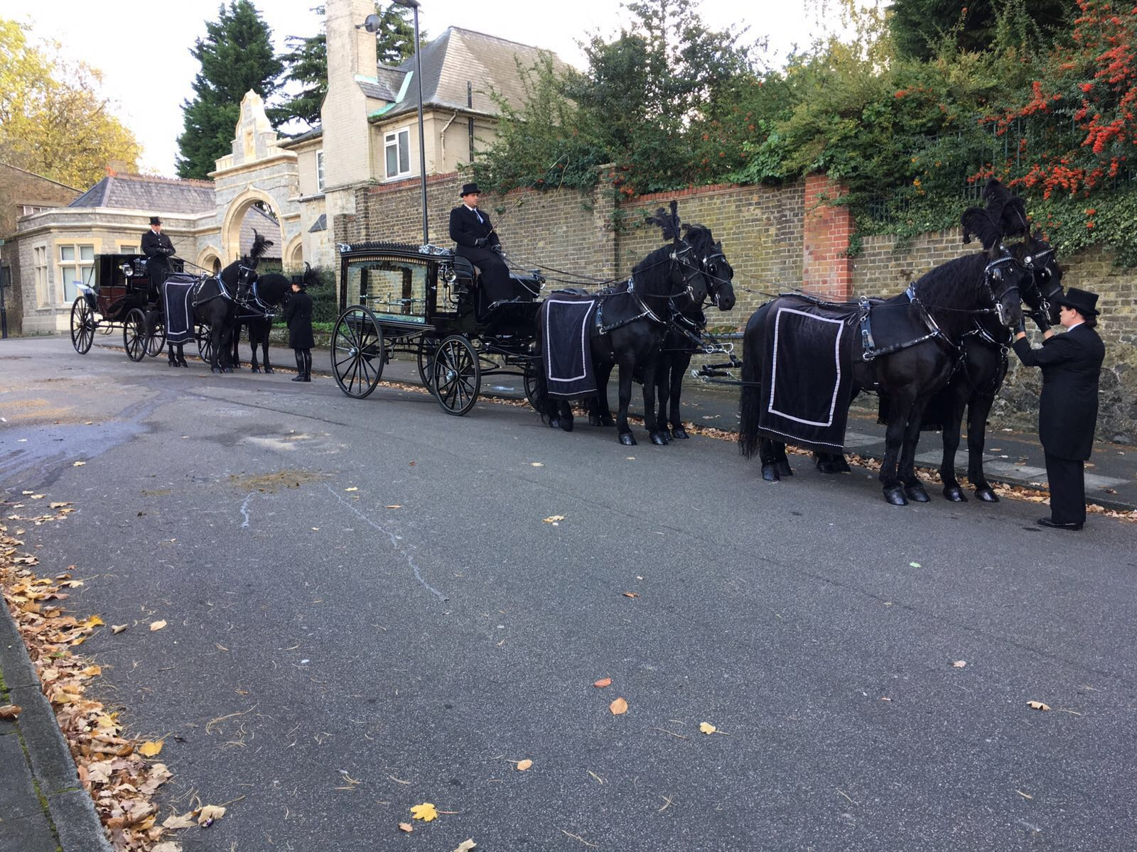 Team of four & Mourners Carriage