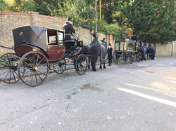 Burgundy Mourners Carriage