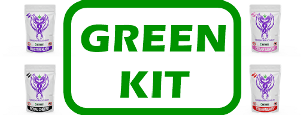 KIT GREEN 65 BUSTINE da 1g  2g e 3g