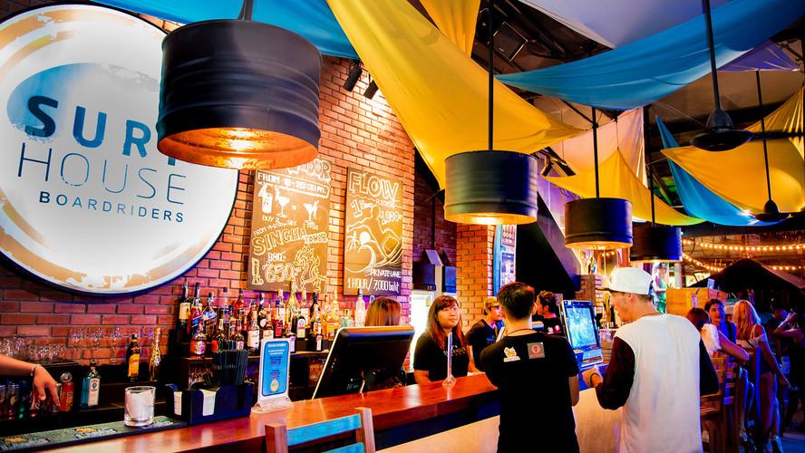 Wipeout Bar at Surf House Patong Beach