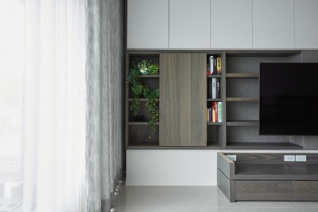 向室制作-室內設計-毛胚屋裝修-新莊-人文風格-石木桌-隱藏門-陶板牆-薄板磚-