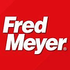 Red and white logo for Fred Meyer grocery store