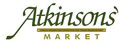 Green and gold logo of Atkinson's market