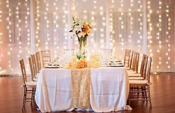 Cutain-lights-at-wedding Surrey Chistmas Lights