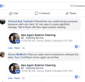 Review for New Again Exterior Cleaning. Power Washing. Soft Washing. Roof Cleaning.