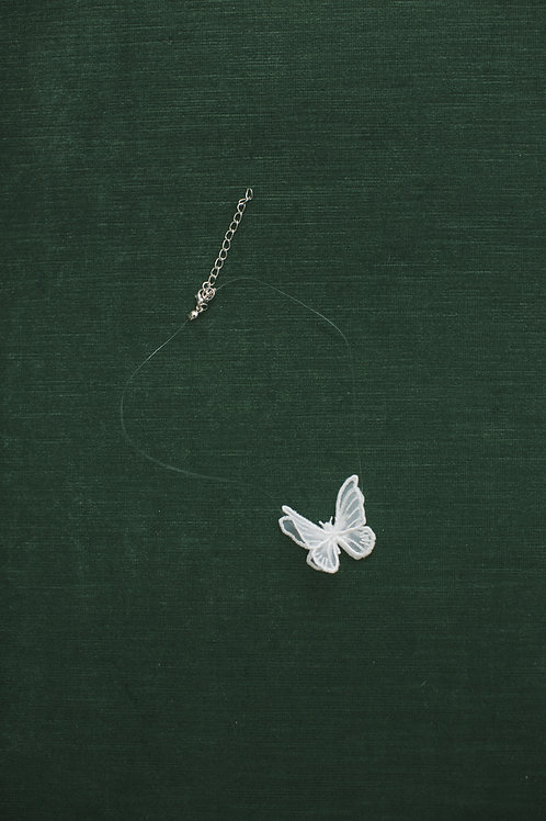 BRIDAL Choker -One Butterfly