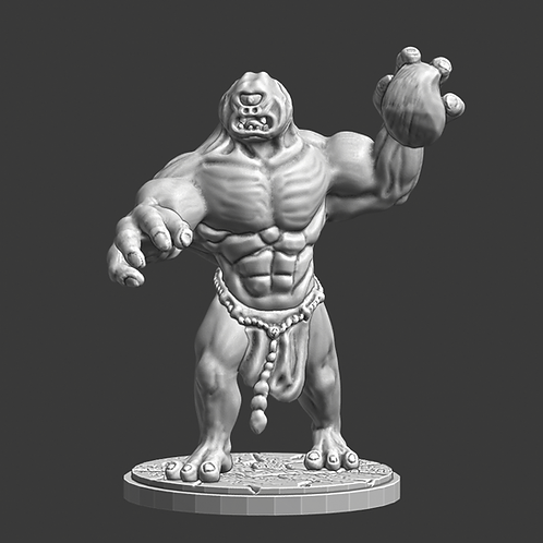 Cyclops miniature, ideal for DnD and RPG, 28mm, Digital download, STL