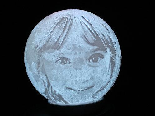 Custom Moon Lithophane Lamp, 3d printed Moon lamp