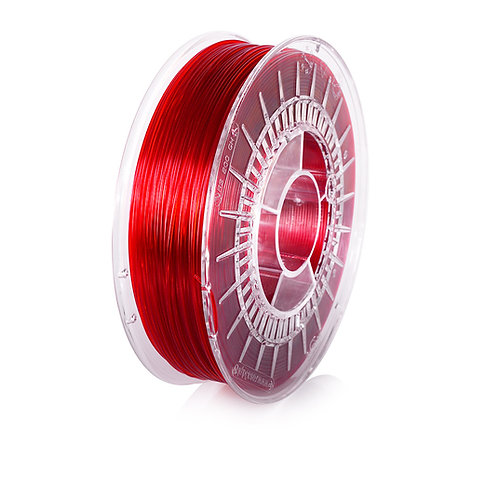 Red Transparent PETG 1.75mm, 0.8kg