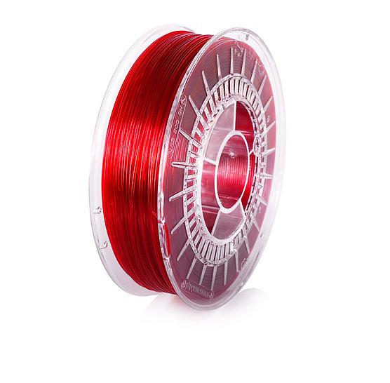 Red Transparent PETG 1.75mm, 0.8kg