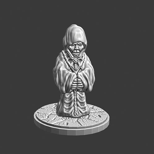 Warlock miniature, ideal for DnD and RPG, 28mm, Digital download, STL