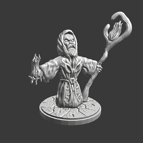 Druid miniature, ideal for DnD and RPG, 28mm, Digital download, STL