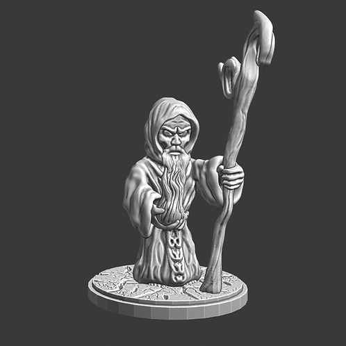Wizard miniature, ideal for DnD and RPG, 28mm, Digital download, STL