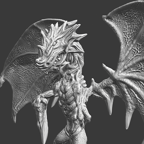 Dragon miniature kit, ideal for DnD and RPG, 28mm, Digital download, STL