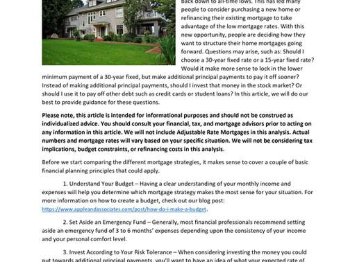 Mortgage Strategies