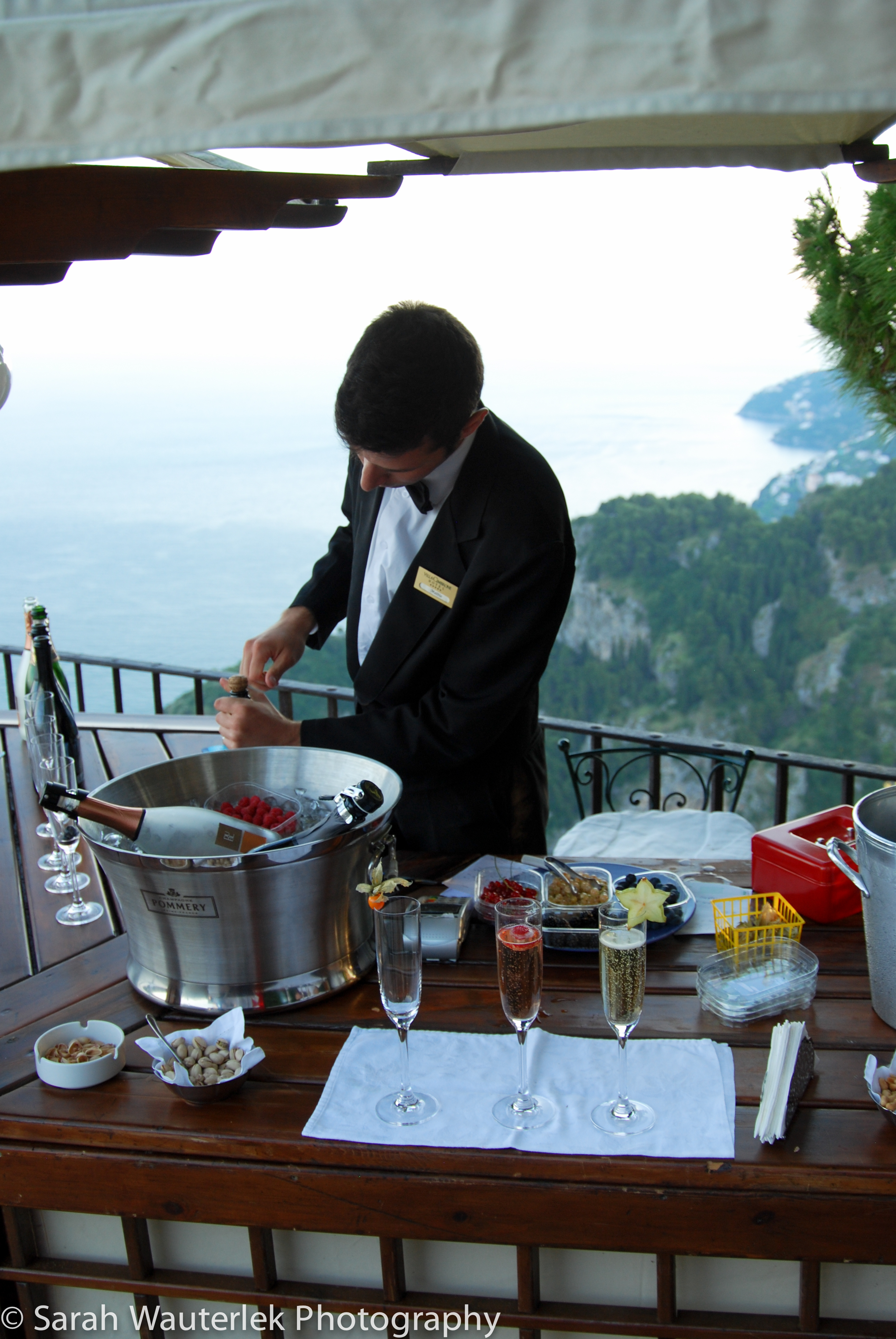 Champagne toasts on the Amalfi Coast
