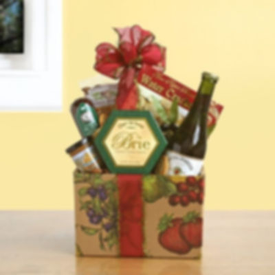 gift baskets Wine and cheese