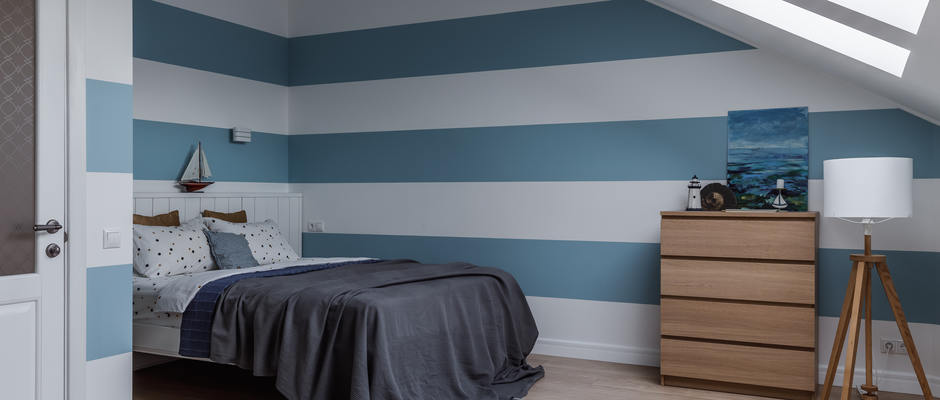 спальня для мальчика на мансарде