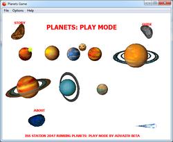 PLANETS: Play Mode Menu