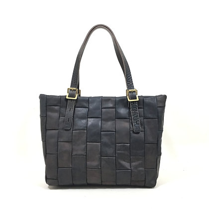 Hand dye Patchwork tote