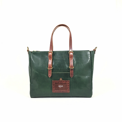 Double zippers tote